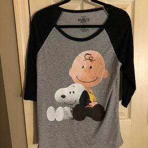 Snoopy and Charlie Brown Tee NWOT